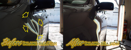Paintless Dent Repair fender dent